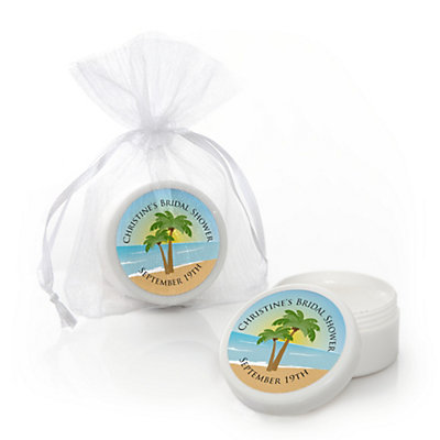 Beach - Personalized Bridal Shower Lip Balm Favors...