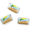Beach - Personalized Bridal Shower Mini Candy Bar Wrapper Favors - 20 ct