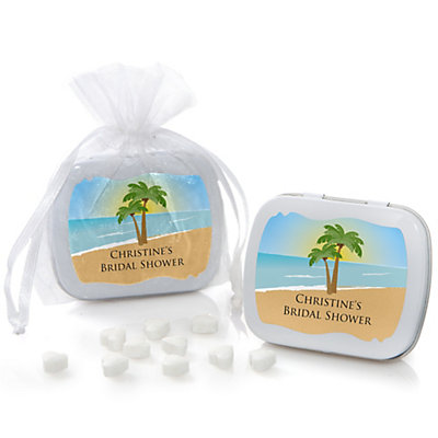 Beach - Personalized Bridal Shower & Wedding Mint Tin Favors...