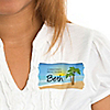Beach - Personalized Bridal Shower Name Tag Stickers - 8 ct