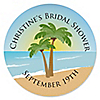 Beach - Personalized Bridal Shower Sticker Labels - 24 ct