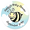 Cute-As-Can-BEE - Personalized Baby Shower Sticker Labels - 24 ct