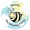 Cute-As-Can-BEE - Personalized Birthday Party Sticker Labels - 24 ct