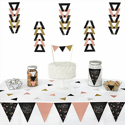 Best Day Ever - 72 Piece Triangle Bridal Shower Decoration Kit
