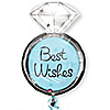 Best Wishes Wedding Ring - Bridal Shower Mylar Balloon
