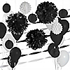 Black & White - Baby Shower Décor Kit