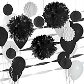 Black and White Decoration Kit for Baby Showers