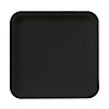 Black - Baby Shower Dessert Plates 18 ct