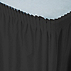 Black - Baby Shower Plastic Table Skirts