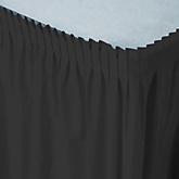 Black - Baby Shower Table Skirt