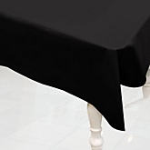 Black - Baby Shower Plastic Table Cover