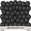 Black - Birthday Party Latex Balloons - 100 ct