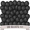 Black - Birthday Party Latex Balloons - 100 ct
