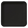 Black - Birthday Party Dinner Plates 18 ct