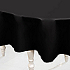 Black - Birthday Party Plastic Round Tablecovers