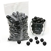 Black - One Inch Gumballs - Baby Shower Candy - 2 lbs
