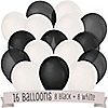 Black and White - Baby Shower Latex Balloons - 16 ct
