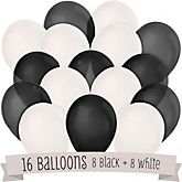 Black and White - Baby Shower Balloon Kit - 16 Count