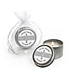 Delicate Blessings Cross - Personalized Baptism Candle Tin Favors