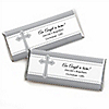 Delicate Blessings Cross - Personalized Baptism Candy Bar Wrapper Favors