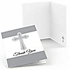 Delicate Blessings Cross - Baptism Thank You Cards - 8 ct