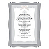 Delicate Blessings Cross - Personalized Baptism Vellum Overlay Invitations
