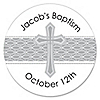 Delicate Blessings Cross - Personalized Baptism Sticker Labels - 24 ct