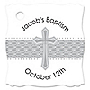 Delicate Blessings Cross - Personalized Baptism Tags - 20 ct