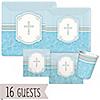 Blessings Blue - Baby Shower 16 Big Dot Bundle