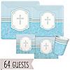 Blessings Blue - Baby Shower 64 Big Dot Bundle