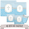 Blessings Blue - Baptism 48 Big Dot Bundle