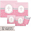 Blessings Pink - Baptism 32 Big Dot Bundle