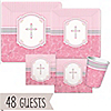 Blessings Pink - Baptism 48 Big Dot Bundle