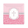 Blessings Pink - Baptism Dessert Plates - 8 ct
