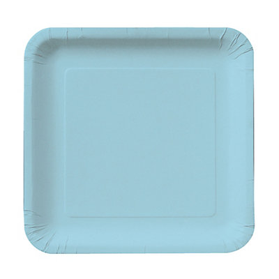 Baby Blue - Dessert Plates - 18 Qty/Pack - Baby Shower Tableware