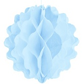 Pastel Blue Honeycomb Ball - Baby Shower Decorations