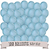 Blue - Birthday Party Latex Balloons - 100 ct