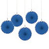 Royal Blue - Birthday Party Mini Paper Rosette Fans - 5 ct