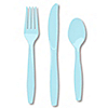 Blue - Bridal Shower Forks, Knives, Spoons - 24 ct