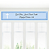 Delicate Blue Cross - Personalized Baptism Banners