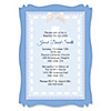 Delicate Blue Cross - Personalized Baptism Vellum Overlay Invitations