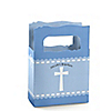 Delicate Blue Cross - Personalized Baptism Mini Favor Boxes