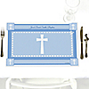 Delicate Blue Cross - Personalized Baptism Placemats