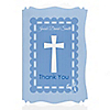 Delicate Blue Cross - Personalized Baptism Thank You Cards