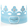 Blue - Daddy-To-Be-Crown - Personalized Baby Shower Gift