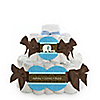 Blue Baby Elephant - Personalized Baby Shower Square Diaper Cakes - 2 Tier