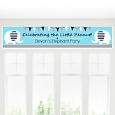 Blue Baby Elephant - Personalized Baby Shower Banner