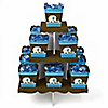 Blue Baby Elephant - Baby Shower Candy Stand and 13 Candy Boxes