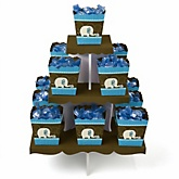 Blue Baby Elephant - Baby Shower Candy Stand & 13 Fill Your Own Candy Boxes