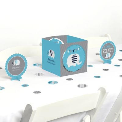 Blue Baby Elephant   Baby Shower Centerpiece U0026 Table Decoration Kit